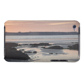 Rocky beach at sunset barely there iPod cases