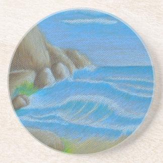 Rocky beach coaster