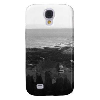 Rocky Beach. Scenic Coastal View. Black and White. Galaxy S4 Case
