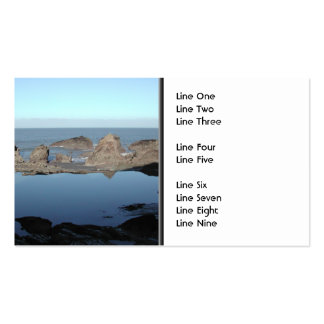 Rocky Beach. Scenic Coastal View. Double-Sided Standard Business Cards (Pack Of 100)