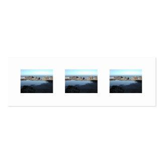 Rocky Beach Scenic Coastal View Business Card Template