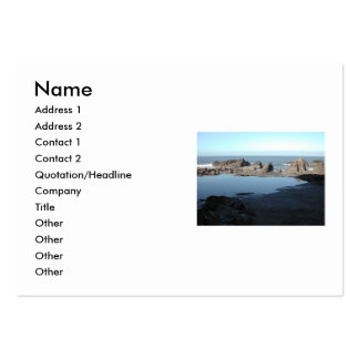Rocky Beach. Scenic Coastal View. Business Cards