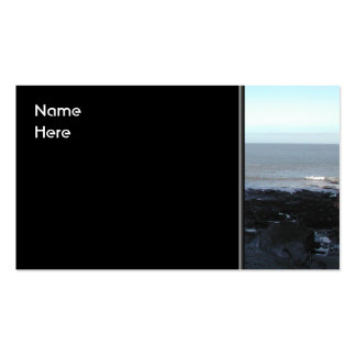 Rocky Beach. Scenic Coastal View. Pack Of Standard Business Cards