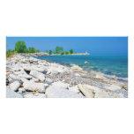 Rocky Beach Shore Custom Photo Card