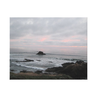 Rocky Cambria, California,  Coastline at Sunset Stretched Canvas Prints