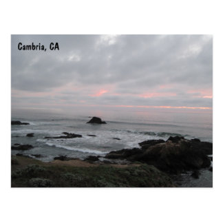 Rocky Cambria, California,  Coastline at Sunset Postcard