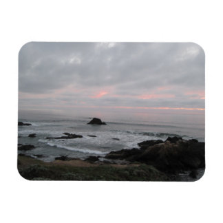 Rocky Cambria California Coastline at Sunset Rectangular Magnet