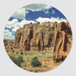 Rocky cliffs, Red Canyon, Utah rock formation Round Stickers