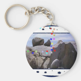 ROCKY COAST BASIC ROUND BUTTON KEY RING