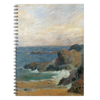Rocky Coast by Paul Gauguin, Vintage Impressionism Spiral Note Book