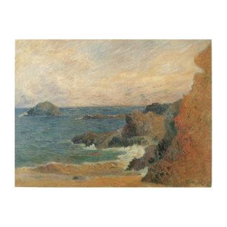 Rocky Coast Gauguin Vintage Post Impressionism Wood Prints