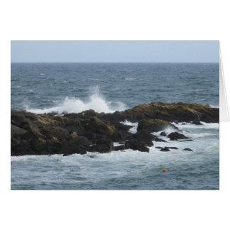Rocky Coast in York Maine Greeting Card