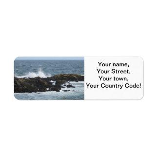 Rocky Coast in York Maine Return Address Label