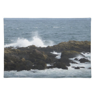 Rocky Coast in York Maine Cloth Place Mat