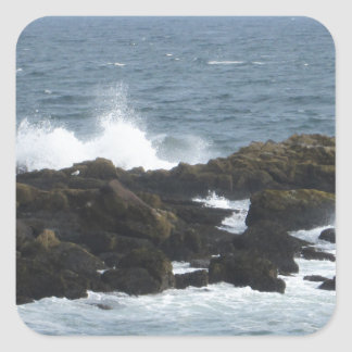 Rocky Coast in York Maine Square Sticker