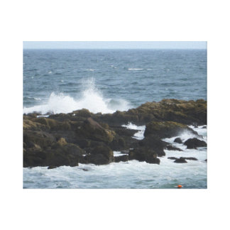 Rocky Coast in York Maine Stretched Canvas Prints