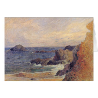 Rocky Coast - Paul Gauguin Greeting Card