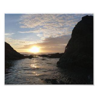 Rocky Coast Sunset Photo Print
