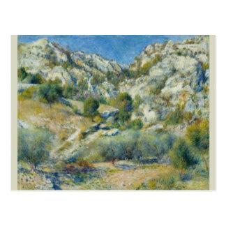 Rocky Crags at L'Estaque by Pierre-Auguste Renoir Post Cards