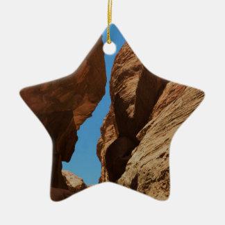 Rocky desert canyon. christmas ornament