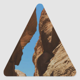 Rocky desert canyon. triangle sticker