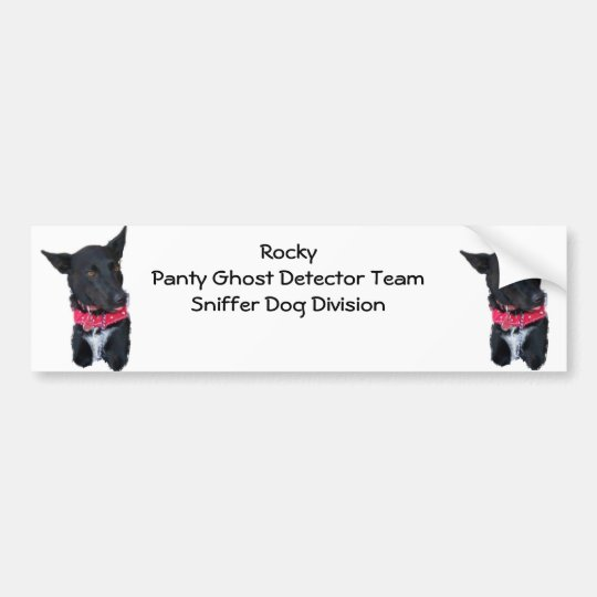 Rocky Dog - Panty Ghost Detector Team Bumper Sticker