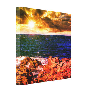 Rocky European Coastline Canvas Print
