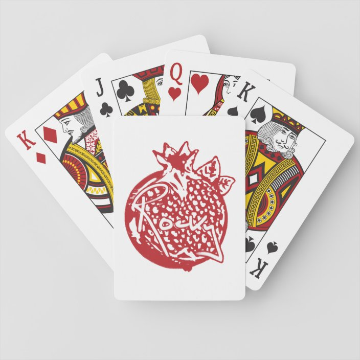 rocky flintstone playing cards playing cards  zazzlecouk