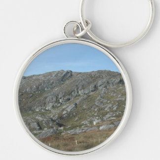 Rocky Hills Near Dursey Head. Ireland. Silver-Colored Round Key Ring