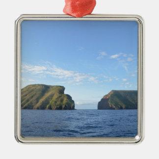 Rocky islands Silver-Colored square decoration