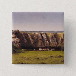 Rocky landscape near Flagey 15 Cm Square Badge