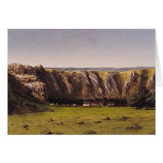 Rocky landscape near Flagey Greeting Card