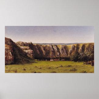 Rocky landscape near Flagey Poster
