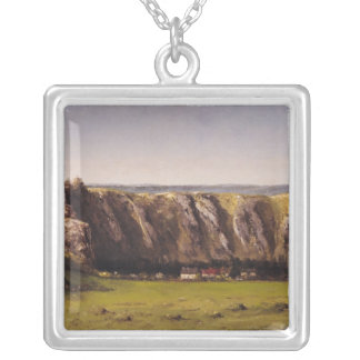 Rocky landscape near Flagey Silver Plated Necklace
