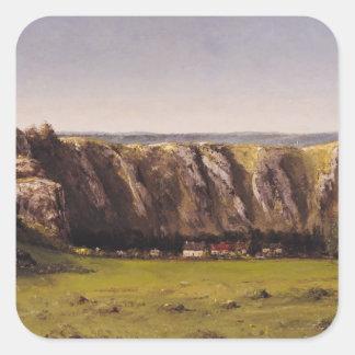 Rocky landscape near Flagey Square Sticker
