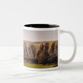 Rocky landscape near Flagey Two-Tone Coffee Mug