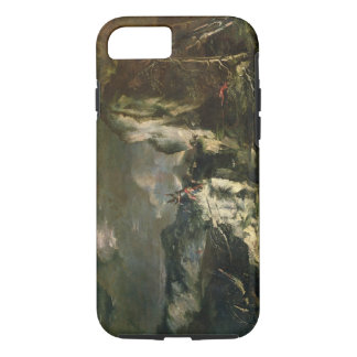 Rocky Landscape with a Huntsman and Warriors (oil iPhone 8/7 Case