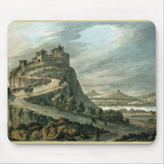 Rocky landscape with castle mouse mat