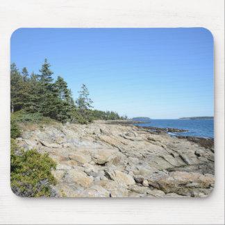 rocky Maine coast Mouse Pads