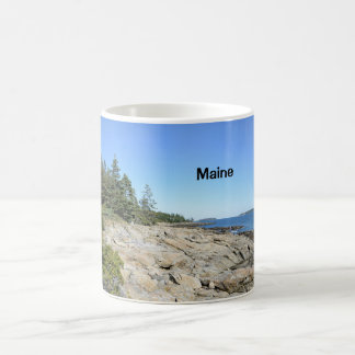 rocky Maine coast Classic White Coffee Mug