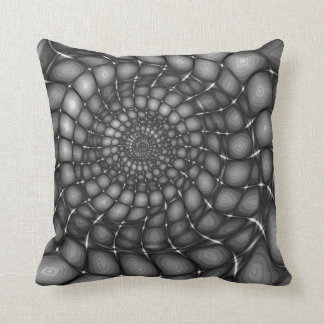 Rocky - monochrome, spiral abstract design. cushion