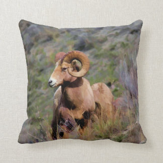 Rocky Mountain Bighorn Sheep Cushion