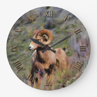 Rocky Mountain Bighorn Sheep Large Clock