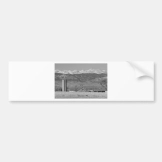 Rocky Mountain Country View Black And White Bumper Sticker