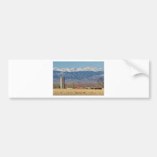 Rocky Mountain Country View Bumper Sticker