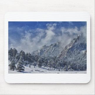 Rocky Mountain Dusting Of Snow Boulder Colorado Mousepad