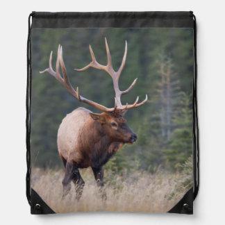 Rocky Mountain Elk Drawstring Bag