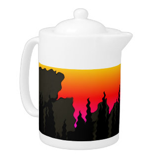 Rocky Mountain Forest Sunset accent