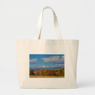 Rocky Mountain Front Range Colorful View Large Tote Bag