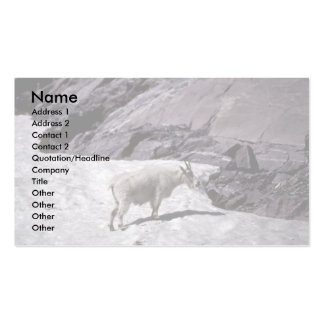 Rocky mountain goat business card templates